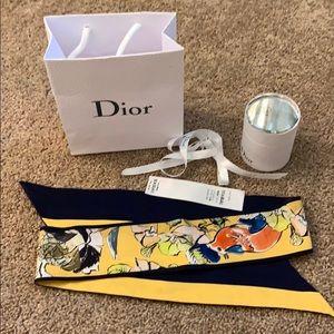 Christian Dior silk twilly/ mitzah